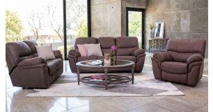 LaScalla 3 Piece 3 Action Lounge Suite in Fabric, Cappuchino