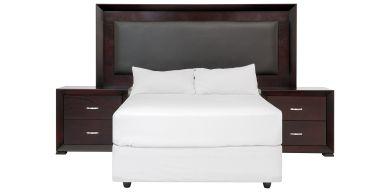 Knight 3 Piece Bedroom Suite, Brown
