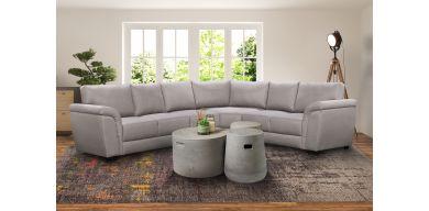 Lexi 4 Piece Corner Lounge Suite in Fabric, Grey