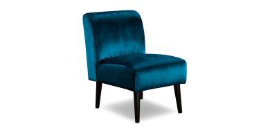 Tyler Occasional Chair in Fabric, Velvet Teal